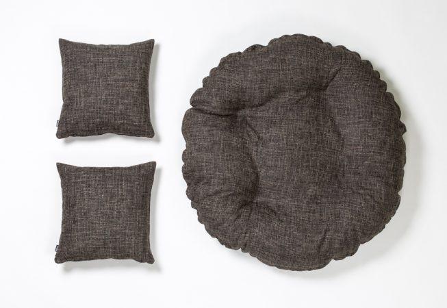 Cosy Cottage grey - Haustierbett mit passenden Dekokissen