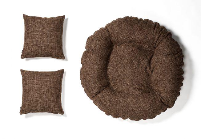 Cosy Cottage brown - Haustierbett mit passenden Dekokissen